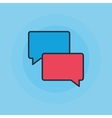 Speech bubbles flat icon vector image