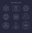 sacred geometry non expanded outline vector image