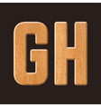 3288 GH wood let vector image vector image