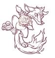 a fire fox vector image vector image