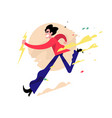 a running evil guy a cute young man is running vector image vector image