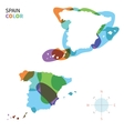 abstract color map spain vector image