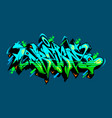 abstract word dream graffiti style font lettering vector image vector image