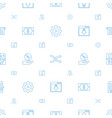 app icons pattern seamless white background vector image vector image