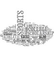 athletic college scholarship text word cloud vector image vector image