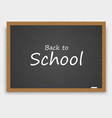 back to school background with blackboard vector image vector image