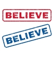 Believe Rubber Stamps vector image vector image