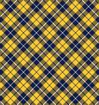 blue orange tartan fabric texture diagonal pattern vector image vector image