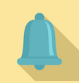 blue ring bell icon flat style vector image