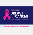 breast cancer awareness month banner - pink vector image vector image