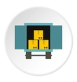 Cargo truck with load icon flat style vector image vector image