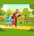 cartoon concept happy family vector image