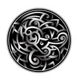 celtic style tattoo vector image