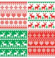christmas pattern set winter design vector image vector image