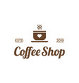 Coffee shop with love icon logo design inspiration