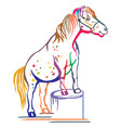 colorful pony vector image