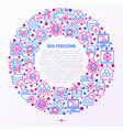 data processing concept in circle vector image vector image