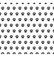 dog paw cat paw seamless pattern cartoon repeat vector image vector image