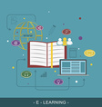 e-learing flat concept vector image