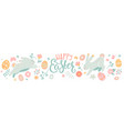 easter greeting horizontal card banner vector image