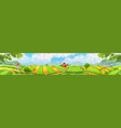 farm panorama landscape background vector image