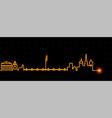 geneva light streak skyline vector image vector image