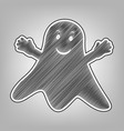 ghost sign pencil sketch imitation dark vector image vector image