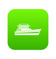 great powerboat icon digital green vector image vector image