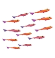 Group of small fish icon vector image