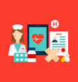health care clinic concept vector image