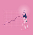 investor businessman climbing up on a ladder vector image
