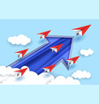 leadership concept in paper vector image vector image