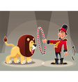 Lion Tamer with lion vector image vector image