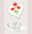 love background with heart shape red roses vector image