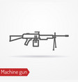 machine gun line icon vector image vector image