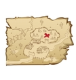Map in wild West style with village and cemetery vector image vector image