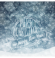 merry christmas card with snow texture vector image vector image