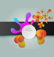 modern background with colorful and circular vector image vector image