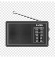 modern fm radio mockup realistic style vector image vector image