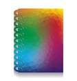 notebook simple sign colorful icon with vector image