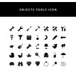 object tool glyph style icon set vector image vector image