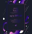 original concept discount sale poster sale vector image vector image