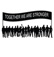 people together with message silhouette vector image vector image