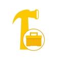 plastic tool box hammer icon vector image