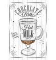 Poster chocolate milk vector image vector image