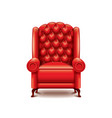 red armchair isolated vector image vector image