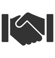 relation handshake flat icon vector image vector image