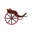 retro carriage for transportation of people vector image