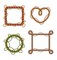 rope frames realistic set vector image vector image