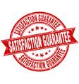 satisfaction guarantee round grunge ribbon stamp vector image vector image
